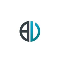 initial letter bv creative design logo vector image