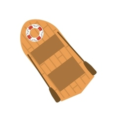 Isolated lifeboat ship design vector