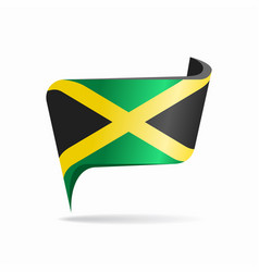 jamaican flag map pointer layout vector image