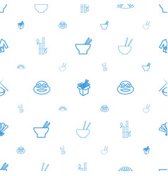 Japanese icons pattern seamless white background vector