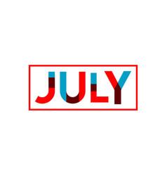 July template design vector