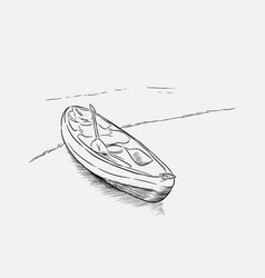 kayak sketch vector image