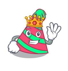 King party hat mascot cartoon vector