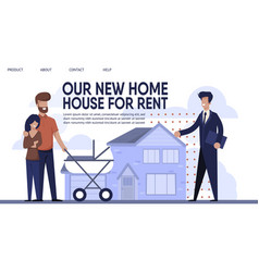 landing page presents sales company rent agency vector image