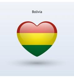 Love Bolivia symbol Heart flag icon vector