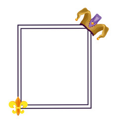 Mardi gras elements frame vector
