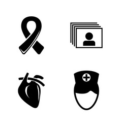 medical treatment medicine simple related icons vector image