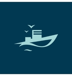 Ocean Ship sign vector
