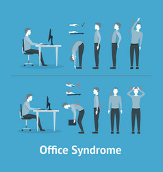 office syndrome vector image