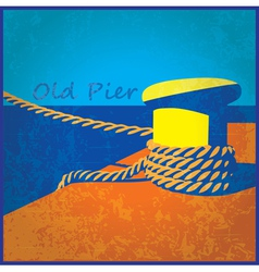 old pier vector image