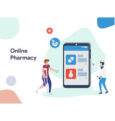 online pharmacy application vector image