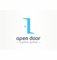 open door in and out creative symbol concept vector image