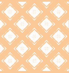 orange pastel pattern with white rhombuses vector image