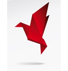 Origami japan paper flying bird vector