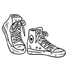 outline coloring of a pair of vector image