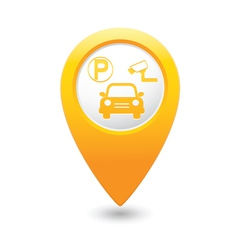 Parking place yellow map pointer vector