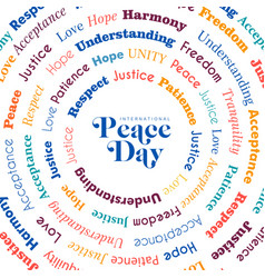 Peace day greeting card for world freedom vector