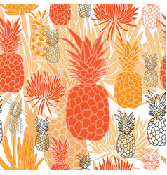 pineapple and succulent-fruit delight seamless vector image