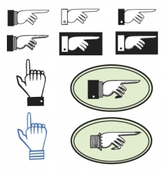 pointing hands vector image vector image