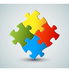 Puzzle solution background vector