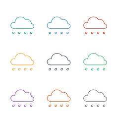 rain icon white background vector image