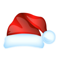 Red santa claus hat isolated vector