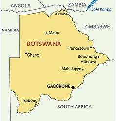 republic botswana - map vector image