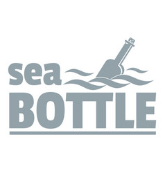 Sea bottle logo simple gray style vector