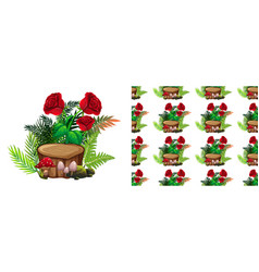 seamless background design with red roses and vector image