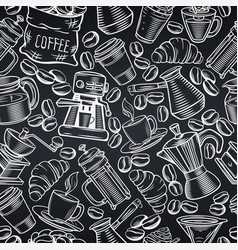 Seamless pattern coffee vector