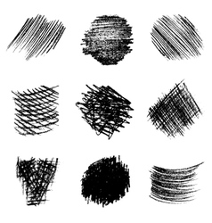 set of pencil hatching 1 vector image
