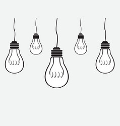 Simple bulb background vector image