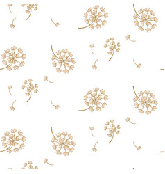 Simple dandelion flower pattern design vector