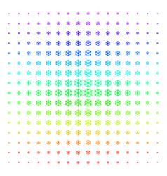 snowflake icon halftone spectral effect vector image