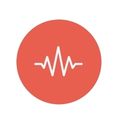 Sound wave beats thin line icon vector image