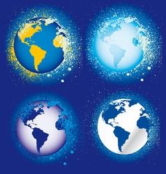 Splatter globes vector