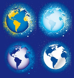 splatter globes vector image