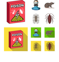 Staff packing with poison and pests cartoonflat vector