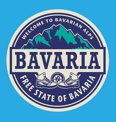 Stamp or emblem - Bavaria vector image