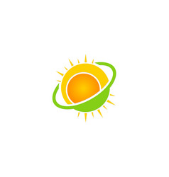 Sun solar shine ecology logo vector