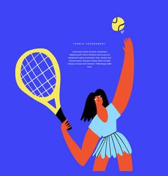 Tennis sports tourney flat banner template vector