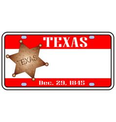 Texas plate vector