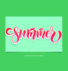 Text summer time for print t shirt souvenir vector