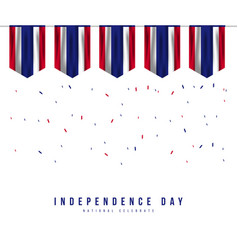 Thailand independence day template design vector