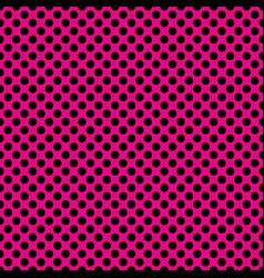tile pattern with black polka dots on pastel pink vector image