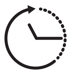 time icon on white background clock icon time vector image