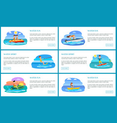 Water fun and sport collection vector