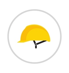 Yellow helmet isolated on white vector