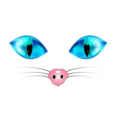 Cat Blue Eyes and Nose vector image vector image