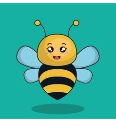 cute bee stuffed icon vector image